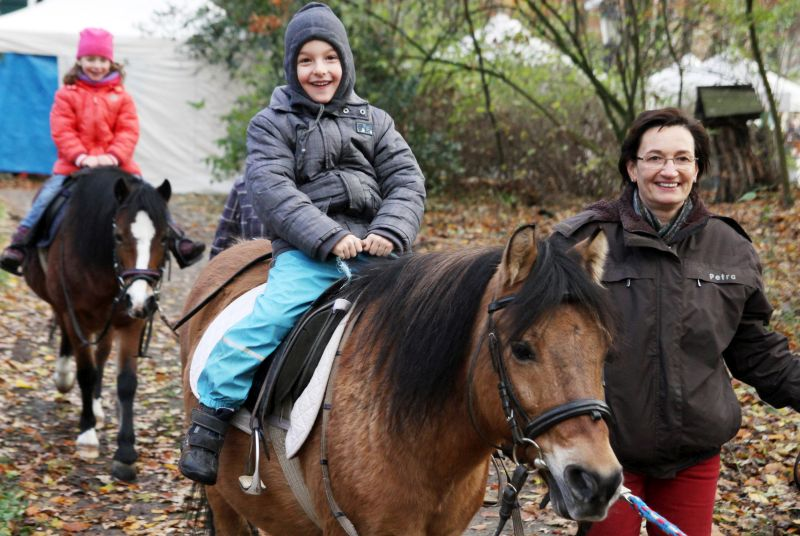 Das Ponyreiten kommt bei den kleinen Weihnachtsmarktbesuchern immer ganz besonders gut an. Foto: Holger Schmälzger